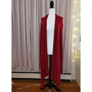 Luxurious Ted Baker Red Waterfall Cardigan